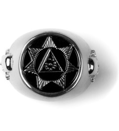 Black Scale Silver Seventh Star Ring  Picutre