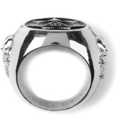 Black Scale Silver Seventh Star Ring  Model Picutre