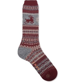 CHUP Burgundy Fiagh SOCK  Picutre
