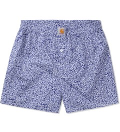 Carhartt WORK IN PROGRESS White/Metro Blue Flora Print Boxer Short  Picutre