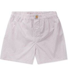 Carhartt WORK IN PROGRESS Red Addison Stripe Boxer Short   Picutre