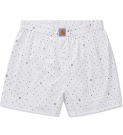 Carhartt WORK IN PROGRESS White/Black Copyright Print Small Boxer Short Picutre