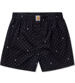 Carhartt WORK IN PROGRESS Black/White Copyright Print Small Boxer Short   Picutre