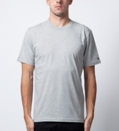 Carhartt WORK IN PROGRESS Heather Grey S/S Basic T-Shirt  Model Picutre