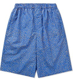 Carven Royal Blue Poplin Print Little Dots Bermuda Picutre