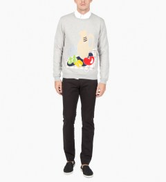Carven Mottled Grey Still Life Molleton Sweater  Model Picutre