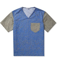 Carven Royal Blue Poplin Print Little Dots Shirt  Picutre