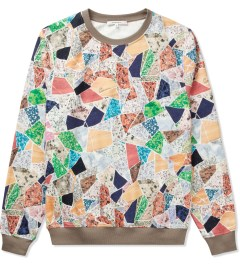 Carven Multicolor Molleton Print Terrazzo Sweater Picutre