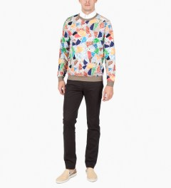 Carven Multicolor Molleton Print Terrazzo Sweater Model Picutre