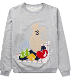 Carven Mottled Grey Still Life Molleton Sweater  Picutre