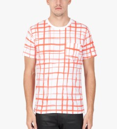Carven Poppy Jersey Print Marker T-Shirt Model Picutre
