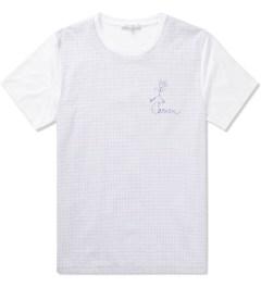 Carven Sky Blue Mix Jersey & Schoolboy Check T-Shirt  Picutre