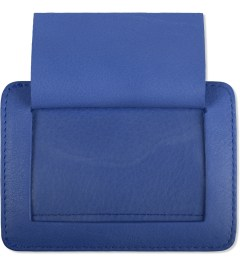 Carven Royal Blue Full Grain Leather Pocket  Model Picutre