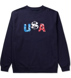 Deadline Navy U$A Sweater Picutre