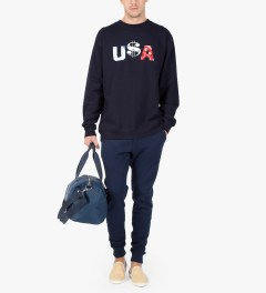 Deadline Navy U$A Sweater Model Picutre