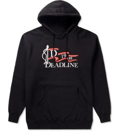 Deadline Black Nautical Flag Pullover Hoodie  Picutre