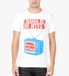 Kitsuné Tee White Carine Brancowitz T-Shirt   Model Picutre