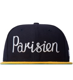 Maison Kitsune Navy Gold 59 Fifty New Era Cap Picutre