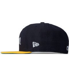 Maison Kitsune Navy Gold 59 Fifty New Era Cap Model Picutre
