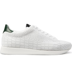 KRISVANASSCHE White Croco Pattern Low Sneakers Picutre