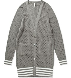 Munsoo Kwon Grey Hole Punch Long Cardigan  Picutre