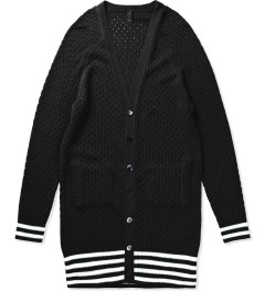 Munsoo Kwon Black Hole Punch Long Cardigan Picutre