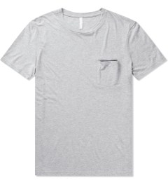 Munsoo Kwon Light Grey Melange Contrast Pocket T-Shirt Picutre