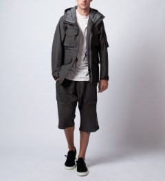 SILENT Damir Doma Washed Out Grey Pixel Sweatshort  Model Picutre