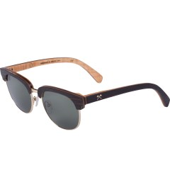 Shwood G15 Polarized Ebony Gold Eugene Sunglasses Model Picutre