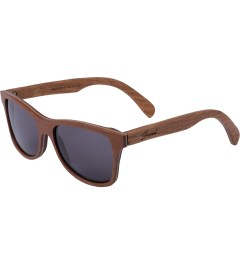 Shwood Grey Walnut/Oak Temple Canby Sunglasses  Model Picutre