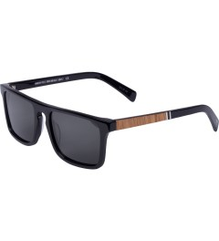 Shwood Grey Polarized Black/Oak Govy2 Sunglasses    Model Picutre