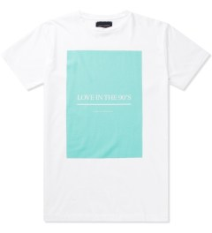 Tourne de Transmission White/Green Love In The 90's Print T-Shirt Picutre