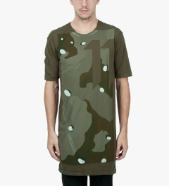 11 By Boris Bidjan Saberi Green Night TS1 P1 F1101 T-Shirt   Model Picutre