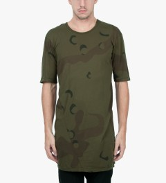 11 By Boris Bidjan Saberi Green Night TS1 P3 F1101 T-Shirt Model Picutre