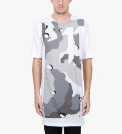11 By Boris Bidjan Saberi White TS1 P1 F1101 T-Shirt Model Picutre