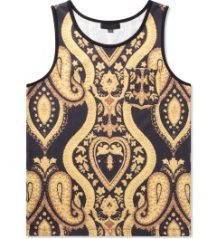 Black Scale Black Nervi Tank Top Picutre