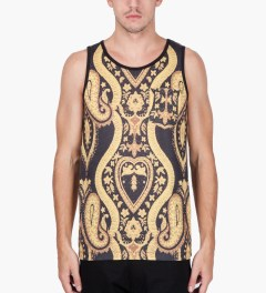 Black Scale Black Nervi Tank Top Model Picutre