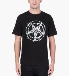 Black Scale Black 666 Splatter T-Shirt  Model Picutre
