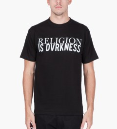 Black Scale Black Religion is Darkness T-Shirt  Model Picutre