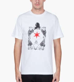 Black Scale White Six Pointed Knight T-Shirt Model Picutre