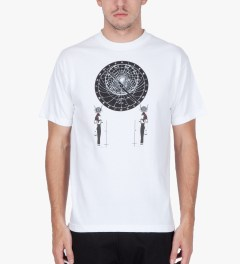 Black Scale White Astrolabe T-Shirt  Model Picutre