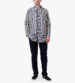 Etudes Manuel Black Ombre Shirt Model Picutre