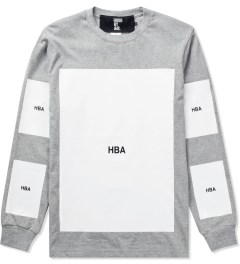 Hood By Air. Grey Block T-Shirt Picutre