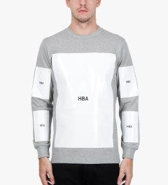 Hood By Air. Grey Block T-Shirt Model Picutre