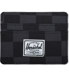 Herschel Supply Co. Black Checkerboard Charlie Cardholders Picutre