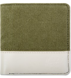 Herschel Supply Co. Washed Army/Natural Nubuck Kenny Canvas Wallet Picutre