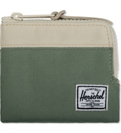Herschel Supply Co. Defender Green/Bone Johnny Zip Wallet Picutre