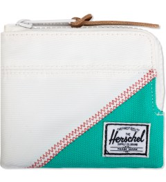 Herschel Supply Co. White/Mark Teal Johnny Zip Wallet Picutre