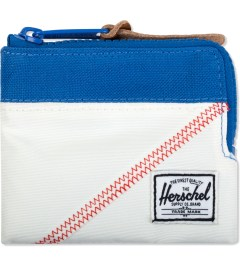 Herschel Supply Co. White/Regatta Blue Johnny Zip Wallet Picutre