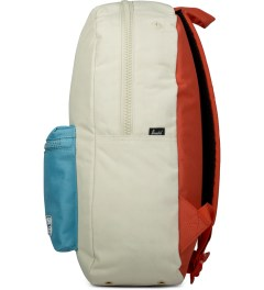 Herschel Supply Co. Bone/Punch Bug Blue/Synchro Red Settlement Backpack Model Picutre